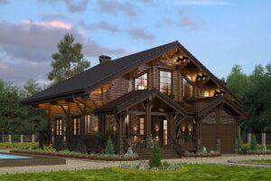 Ahşap Villa, Ağaç Villa, Kütük Villa, Projeleri, Modelleri - Fiyatları